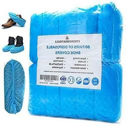 Strongman Tools | 120 Pack Extra Thick Disposable Shoe  Boot