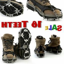 18 Teeth Anti-Slip Ice Snow Climbing Shoe Covers Spike Cleat