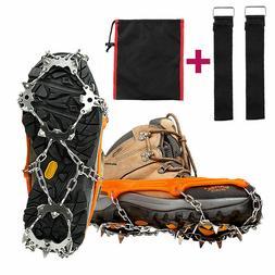 18 Teeth Ice Snow Crampons Anti-slip Climbing Gripper Shoe C