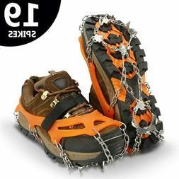 19 Teeth Ice Snow Crampons Anti-slip Climbing Gripper Shoe C