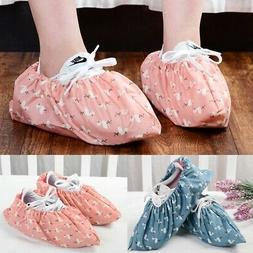 1Pair Reusable Shoe Covers Home Indoor Washable Shoe Covers