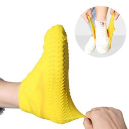 2 Pairs Recyclable Rainproof Silicone Overshoes 5 Colors Wat