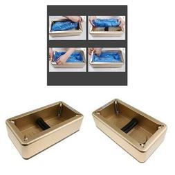 2 Pieces Shoe Covers Dispenser Waterproof for Home Office Fl