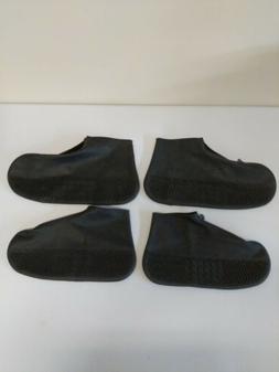 2 x Waterproof Zipper Shoe Covers Silicone Case Reusable Non