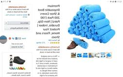 200 Pack PREMIUM Dispose Hygienic Shoe Covers 100 Pairs Non-