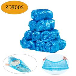 200 Pcs Plastic Disposable Shoe Cover For indoor home kitche