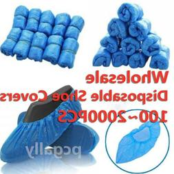 2000 Disposable Shoe Cover Blue Anti Slip Plastic Cleaning O