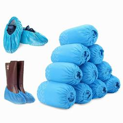 200Pcs Disposable Boot & Shoe Covers, PE Non-Slip and Protec