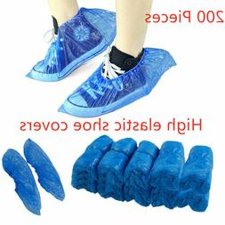 200Pcs Disposable Plastic Rain Waterproof Dustproof Overshoe