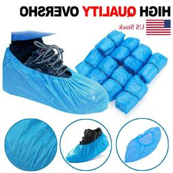 100/200 Waterproof Boot Covers Plastic Disposable Overshoes