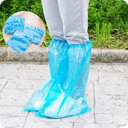 100 Pairs / 200pcs Long Plastic Waterproof Disposable Shoe C