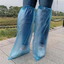 20pcs Disposable Long Shoe Cover Waterproof Anti Slip Knee B