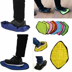 2pcs Handsfree Automatic Step Sock Shoe Cover Reusable One S