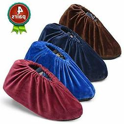4 Pairs Non Slip Shoe Covers, Washable And Reusable Boots Co