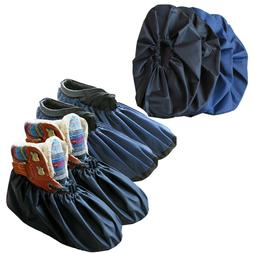 4 Pairs Non Slip Washable Reusable Shoe Covers Boot Covers f