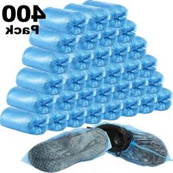 400pcs/200 Pair Blue Disposable Shoe Covers Anti Slip Plasti