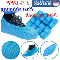 400PCS Disposable Shoe Boots Covers Plastic Waterproof Overs