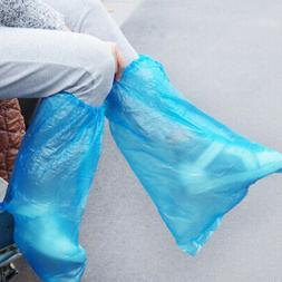 5/10 Pairs Disposable Anti-Slip Shoe Covers Waterproof Rain
