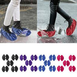 5 Pairs Shoe Covers Reusable Washable Non Slip Boot Overshoe