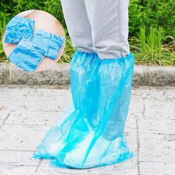 5 Pairs Waterproof Thick Plastic Disposable Rain Shoe Covers