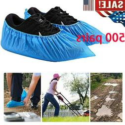 500 Pack Disposable Shoe Covers Blue -Medical Grade- Anti Sl