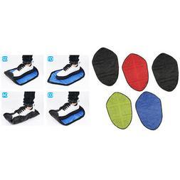 5pcs Reusable Hands Free Shoe Cover Portable Automatic Step