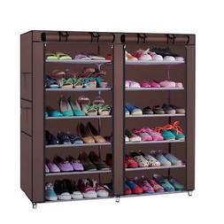 6 Tier Portable Shelf Adjustable Shoe Storage Organizer with