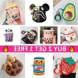 AirPods Cute Cartoon Silicone Case 3D Cover Skin Protective