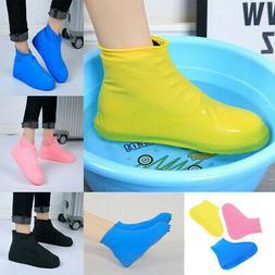 Anti-slip Latex Shoe Covers Reusable Waterproof Rain Boot Ov