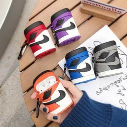Apple AirPods 1 2 Case Nike Air Jordan Silicone Cover Basket