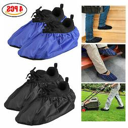 2 Pairs Waterproof Shoe Covers Washable Reusable Non Slip Ov