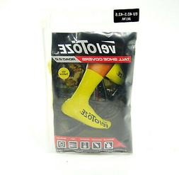 VeloToze Bicycle Shoe Covers, V2.0, Tall, Yellow, Medium, 7.