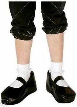 Black Mary Jane Comical Shoe Covers Costume Accessory