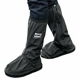 USHTH Black Waterproof Rain Boot Shoe Cover with reflector B