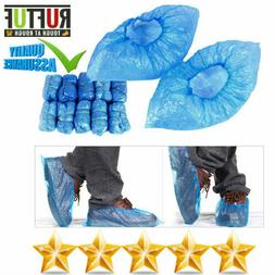 Blue non slip Disposable Overshoes Boot Safety Shoe Covers M