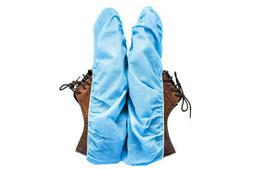 Blue Polypropylene Non-skid/Anti-Static Shoe Covers, 300 pac