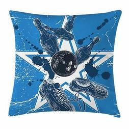 Bowling Party Throw Pillow Cases Cushion Covers Home Decor 8