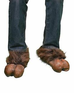 Brown Hooves, Latex and Faux Fur Shoe Covers