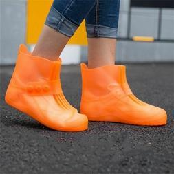 buckle rain shoe covers anti slip thicken