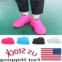 Chic Reusable Non-slip Rain Shoes Covers Waterproof Silicone