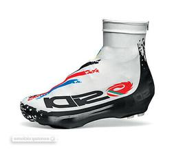 Sidi CHRONO Lycra Aero Cycling Shoe Covers : WHITE/BLACK WOR