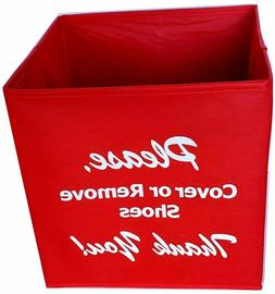 collapsible shoe cover box for disposable shoe