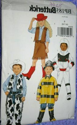 Costume PATTERN Buttrk 3244/ BP185 sz 6-8 Child's Cowgirl/ b