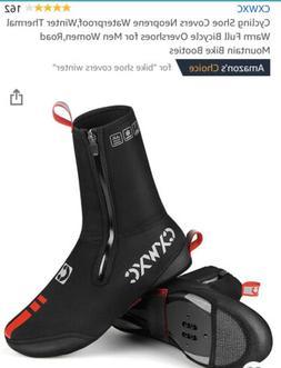 Cycling Shoe Covers Neoprene Waterproof, Winter Thermal