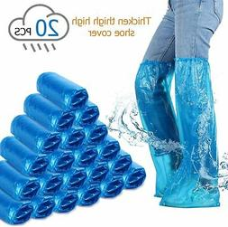 Disposable Boots Covers Plastic Long Shoes Covers Waterproof