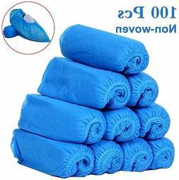 Disposable Shoe Covers 100PCS Non-Woven Non-Slip Durable Ind