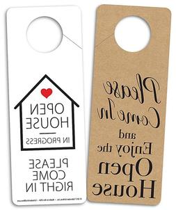 Double Sided Door Hangers for Open Houses