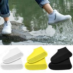Elastic Anti-slip Reusable Silicone Shoe Covers Waterproof S