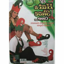 elf hat and shoe covers santa s