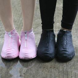 Fashion Reusable Shoe Cover Waterproof Zipper Cover Shoes Me
